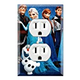 Frozen Decorative Duplex Outlet Wall Plate Cover (Color: Multicolored, Tamaño: Midway)
