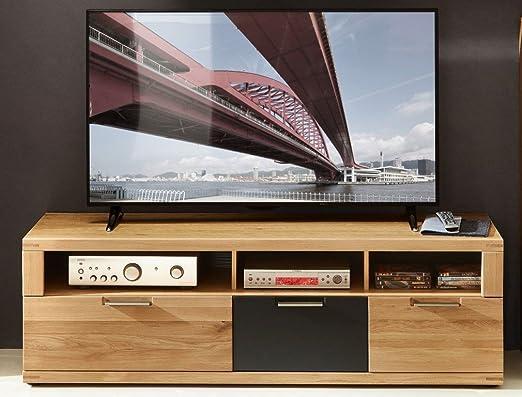 TV-Unterteil 18344 Lowboard TV-Möbel Fernsehmöbel Eiche hell