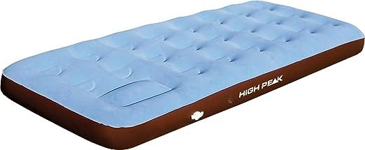 High Peak Luftbett Single Comfort Plus, hellblau/braun, 40065