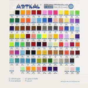 C-2.6mm Mini Artkal Beads 10 Bags Set 1000pcs/bag CB1000-10