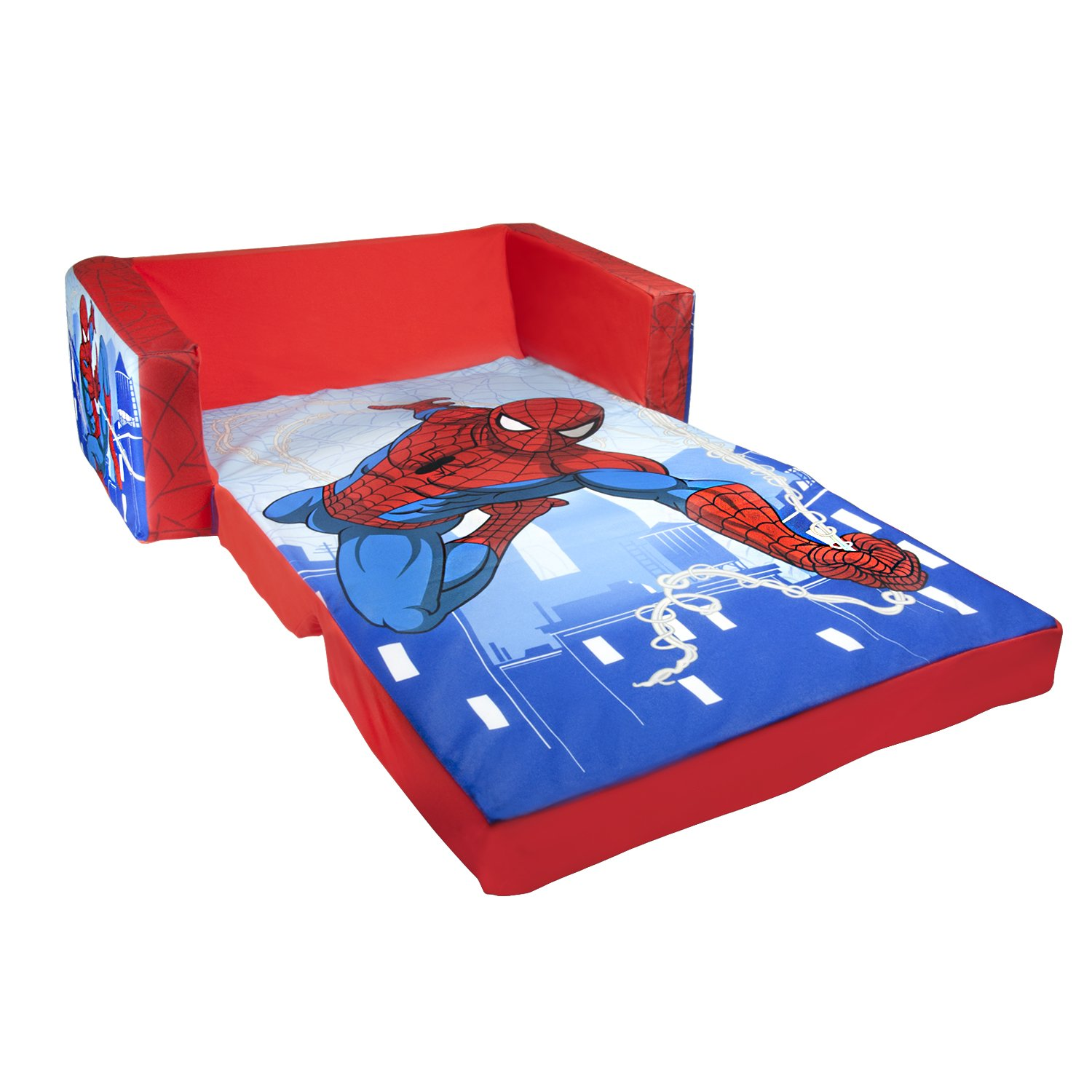 Flip Open Spiderman Sofa Kids Room Bed Boys Toddler Bedroom Play Superhero
