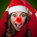 Light Up LED Red Clown Reindeer Nose Halloween Costume - Box of 12