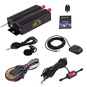 RedSun New GPS/SMS/GPRS Tracker TK103B Vehicle Tracking System With Remote Control (Color: TK103B)