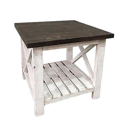 Art Deco Home - Tavolo da cucina RETRO, legno, bianco, 60 cm - 12270SG