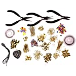 1000 Piece Deluxe Large Jewellery Making Kit Supplies for Starters with multi storage beads box Pliers, Findings, Beads, Cord, Tiger Tail, Gold Plated Accessories by Kurtzy TM