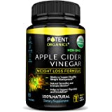 USDA Organic Apple Cider Vinegar - 90 Capsules For Healthy Diet & Weght Loss - 100% Raw, Vegan and Non-GMO - Supports Body Detox - Made in USA - Add to Garcinia Cambogia