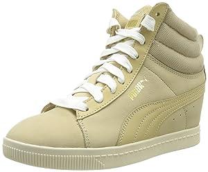 Puma Puma Classic Wedge L, Baskets mode femme - Beige (Pale Khaki/Gold/White Swan), 39 EU   Commentaires en ligne plus informations