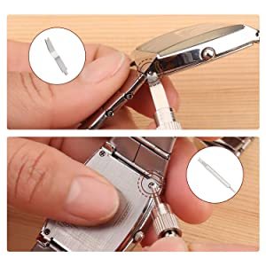 Watch Spring Bar Tool Set for Watch Wrist Strap Repair Kit, 108PCS Extra Watch Band Pins