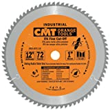 CMT 253.072.12 ITK Industrial Finish Sliding Compound Miter Saw Blade, 12-Inch x 72 Teeth 1FTG+2ATB Grind with 1-Inch Bore (Tamaño: D 12 305mm | T 72 | B 1 | K .110 | P .087)