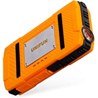 Unifun U821 10400mAh Waterproof Portable Power Bank with 2 USB Charging Ports and LED Flashlight (Orange)