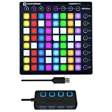 Novation Launchpad Ableton Live Controller with 4-Port 3.0 USB HUB