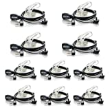 Walkie Talkies Earpieces (10 packs) 2 Pin Covert Air Acoustic Tube Headset for Retevis H-777 Kenwood PUXING Baofeng UV-5R BF-888S 2 Way Radio (Color: 10 Packs)