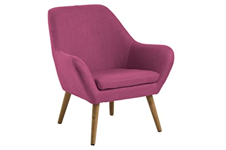 AC Design Furniture 58884 Loungestuhl Lulu, Stoff magenta