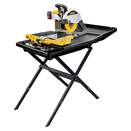 DEWALT D24000S-Heavy-Duty-10 inch-Wet Tile-Saw with-Stand