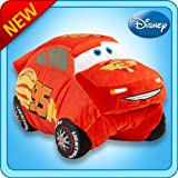 "Pillow Pets Authentic Disney-Cars 18"" Lightning McQueen, Folding Plush Pillow- Large"