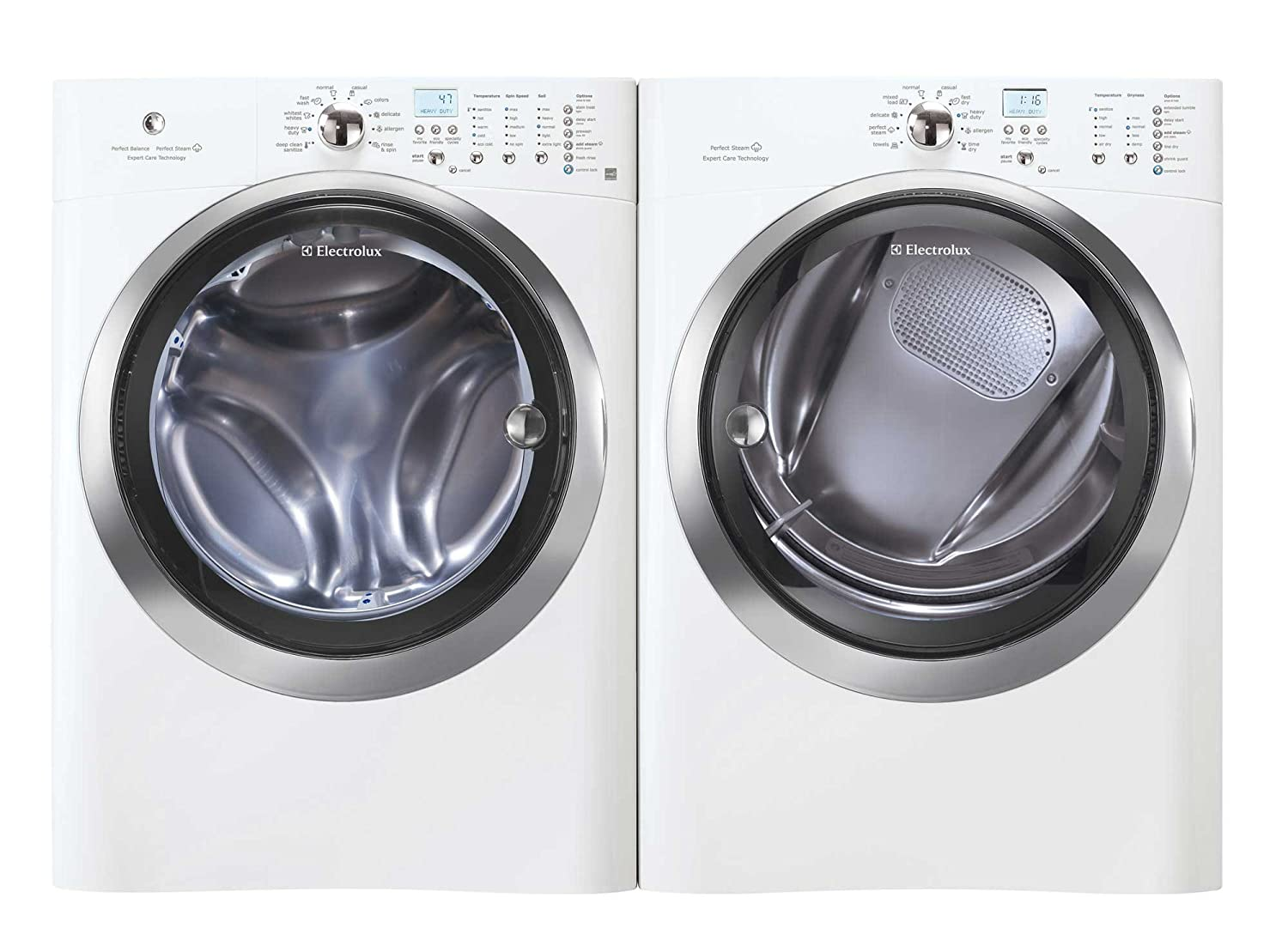 Electrolux Laundry Pair System Special Bundle *Electrolux IQ Touch High Efficiency Front Load Laundry Pair with ELECTRIC Dryer, and Steam (EIFLS60JIW_EIMED60JIW)-Island White Color