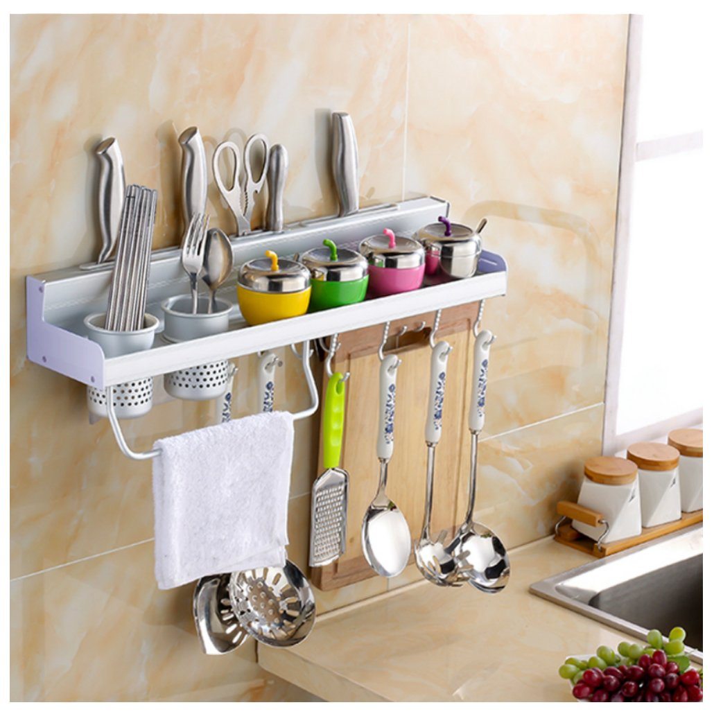 Kitchen Wall Shelf Kitchen Shelf With Hooks Wood Shelf With Hanging Hooks Natural