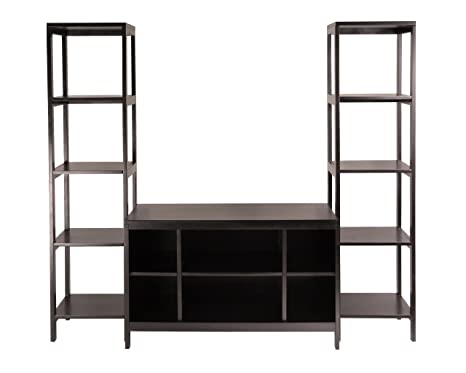 Winsome Wood Hailey 3 pc Wood TV Stand Shelf Set