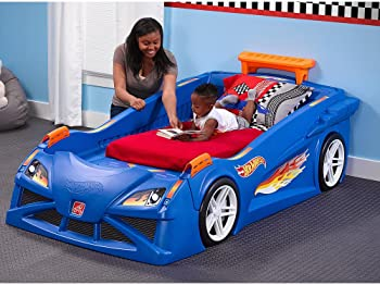 Step2 Hot Wheels Toddler to Twin Race Car Bed