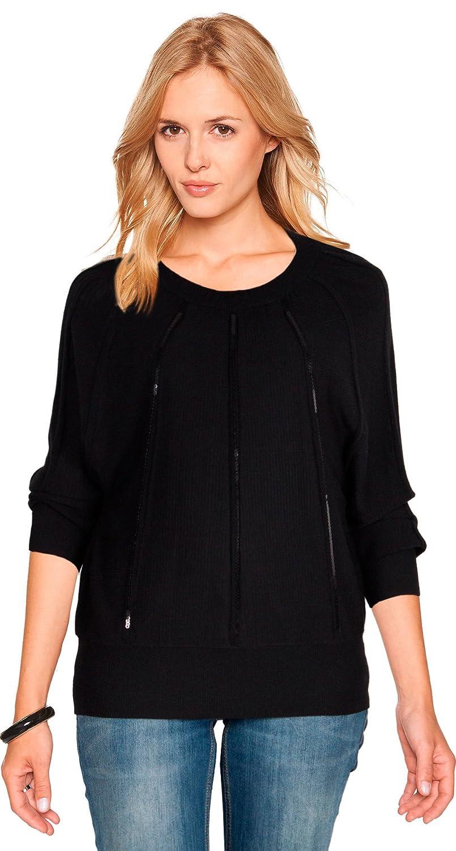 """823 Damen Pullover """"ORLY"""" mit Pailletten schwarz kaufen"""