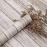 Contact Paper Faux Wood Grain Brown Self-Adhesive Waterproof 11.8