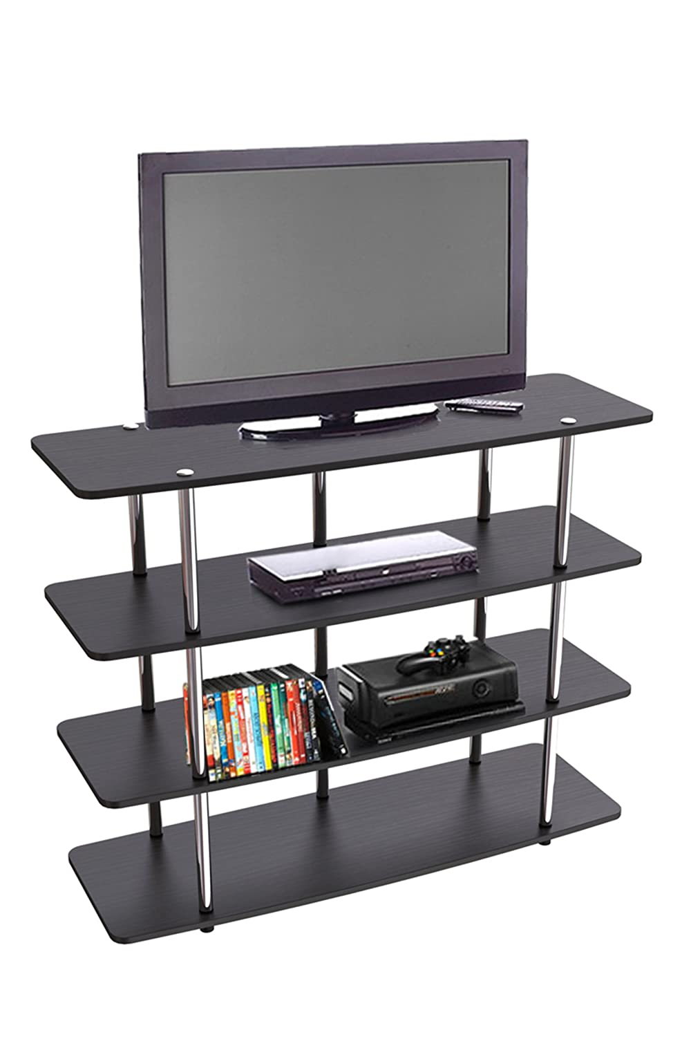 Modern tv stand entertainment center console media home theater furniture shelf ebay Home theater furniture amazon