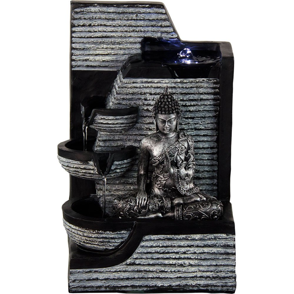 45 buddha fountains lotus meditation fountains with peace wrap text around image dhlflorist Images