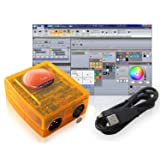 Basic Class Sunlite Suite 2 DMX USB Lighting Interface Controller by Nicolaudie (Color: Orange)
