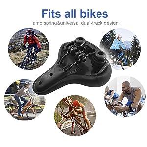 "/"" Saddles BLUEWIND Bike Seat Most Comfortable Bicycle Memory Foam Waterproof"