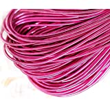 10g Rose Pink Round Smooth Copper Hand Embroidery French Fine Metallic Wire Goldwork Bullion Luneville Tambour Indian Gimp Dabka Purl Thread (Color: Rose Pink, Tamaño: 1mm)