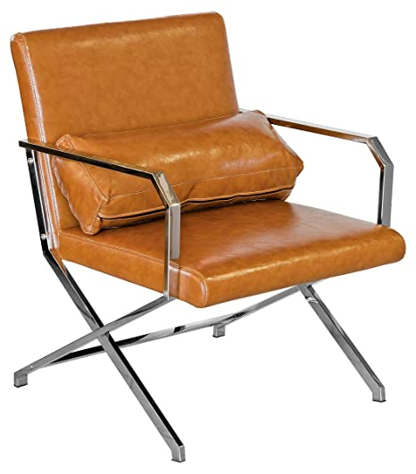 Febland Tan Martello Executive Leisure Chair, Faux Leather