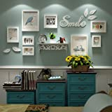 Photo Wall, Bird Wall Sticker Frame Combination, Small Wall Solid Wood Photo Wall, Frame Wall, Living Room Wall (Color : 1#) (Color: 1#)