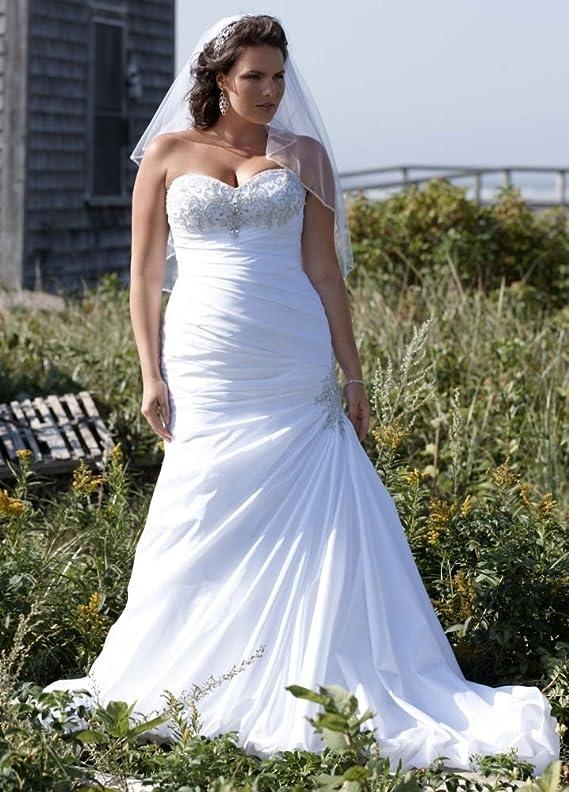 Taffeta SAMPLE Strapless Sweetheart Trumpet Wedding Dress Style AI13012503