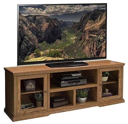 73.75 in. TV Cabinet in Golden Oak Finish