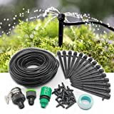 heiinsog 15M Adjustable Emitters Drip Irrigation System, Micro Watering Drippers Kit, 15M Tubing & 15pcs Emitters.