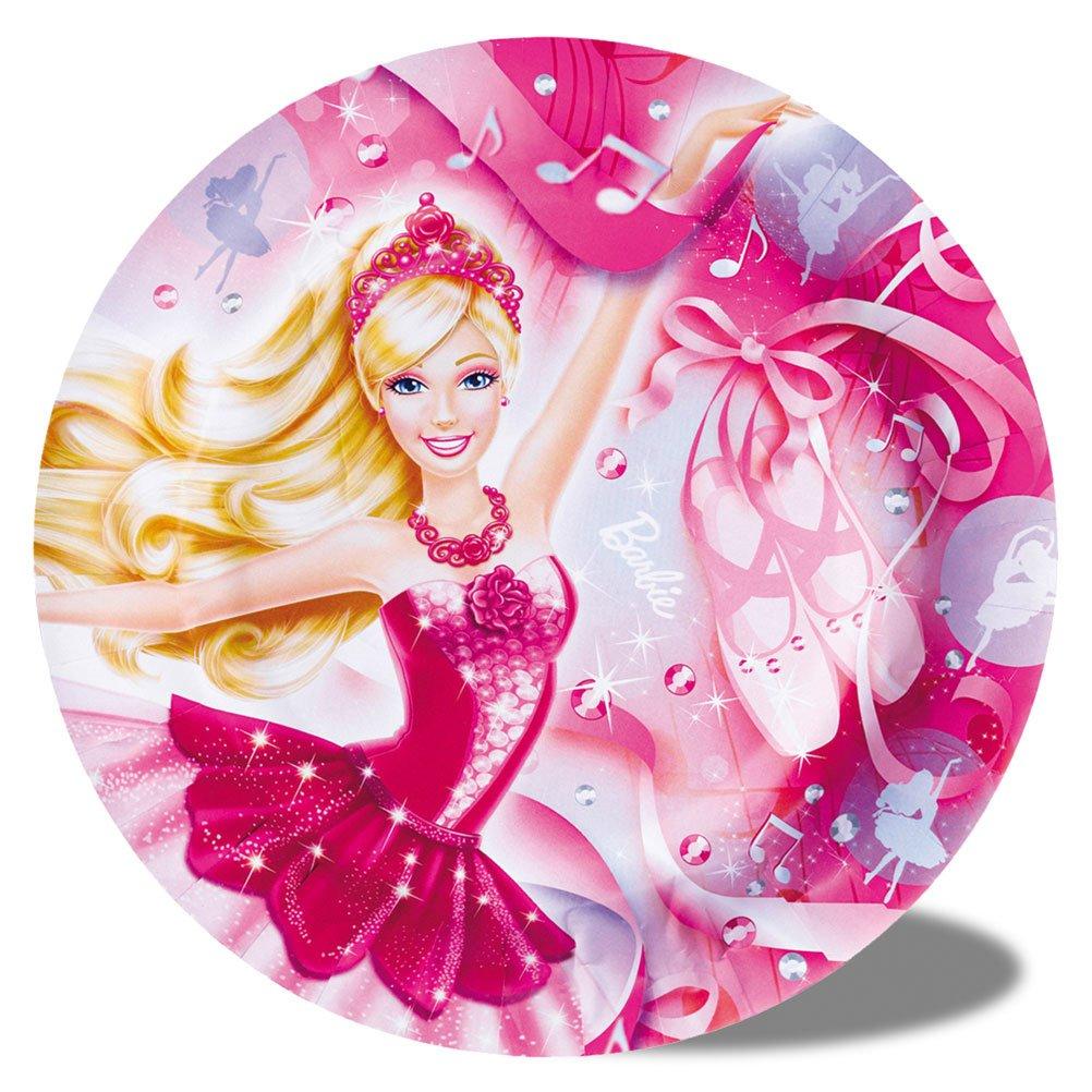 16 x 8er Set Pappteller Kinderteller Kinderpappteller Barbie Ballerina Barbiepappteller – 23 cm online kaufen