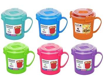 sistema lot de 3 tasses pour soupe emporter couleurs assorties 8 xcvbgfdsd6. Black Bedroom Furniture Sets. Home Design Ideas