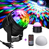 Disco Lights Party Lights,SOLMORE LED Disco Ball Night Lamp Disco Ball Light DJ Light 3W RGB Projection Night Light Sound Activated Strobe Light with Remote for KTV Birthday Kids Dance Bedroom (Color: Rgb (Red, Green, Blue))