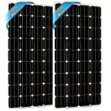 SEC 160 120 320 Watt Monocrystalline 160W 12V Solar Panel High Efficiency Mono Module RV Marine Boat Off Grid (160 WATT Mono) (2X 160WATT Mono) (Color: 2X160W-UNITS, Tamaño: 160WATT)