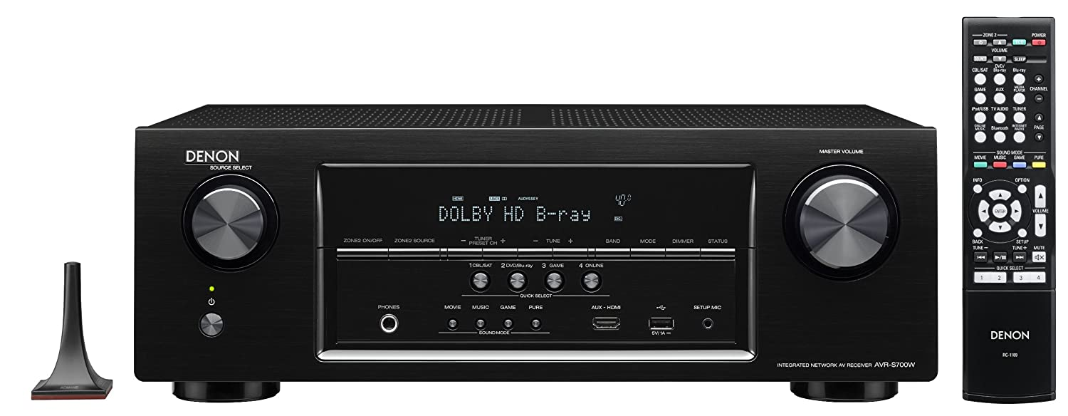 Denon AVR-S700W 7.2-Channel Network A/V Receiver with Bluetooth and Wi-Fi (Discontinued by Manufacturer)