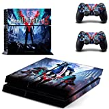 Playstation 4 Skin Set - Devil May Cry 5 HD Printing Vinyl Skin Cover Protective for PS4 Console and 2 PS4 Controller by Mr Wonderful Skin