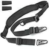 Tactical Hero 2 Point Rifle Sling - Fits Any Gun, Easy Length Adjuster, Shoulder Pad, 30&quot-56&quot- BDS 2x2 Hunting (Color: Black)