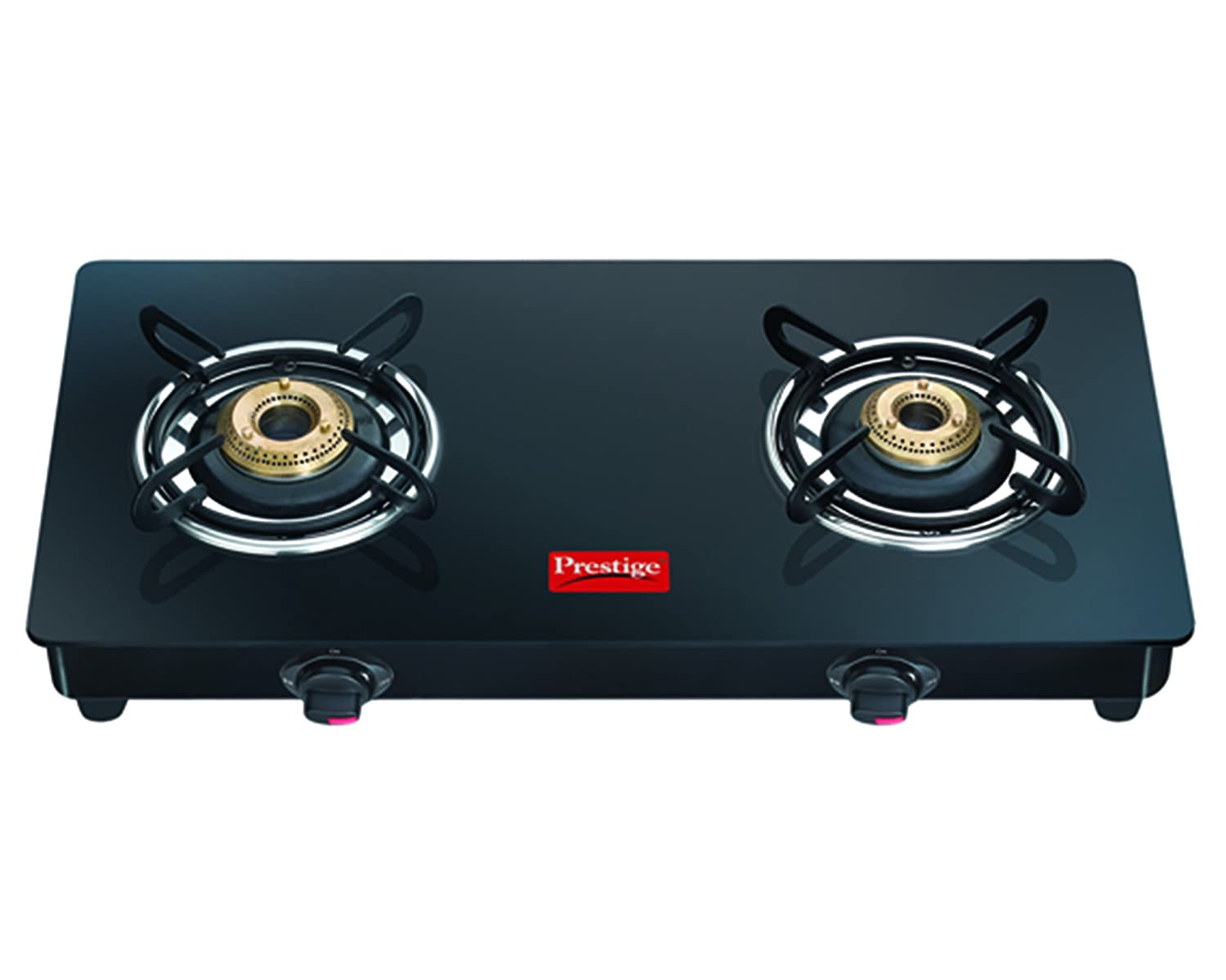 Buy Prestige Marvel Glass 2 Burner Gas Stove, Black Online at Low ...