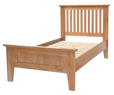 Camberley Oak 3' Single sized Bed Frame in Light Oak Finish   Solid Wood Bedroom 3FT Children''s / Kids / Guest Bedstead