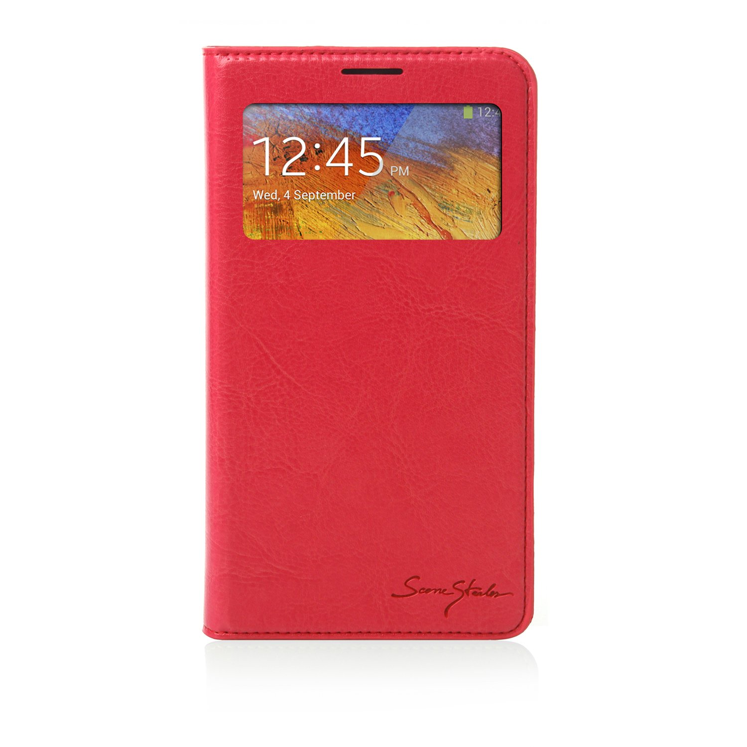 Samsung Galaxy Note 3 Case Italian Standing Window View - Red