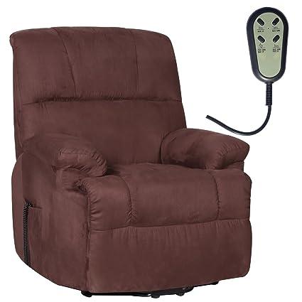 Fernsehsessel elektr. Relaxsessel Aufstehhilfe Mikrofaser dunkelbraun