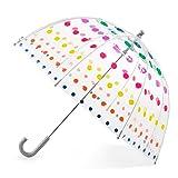 Totes Kids' Clear Bubble Umbrella, Dots