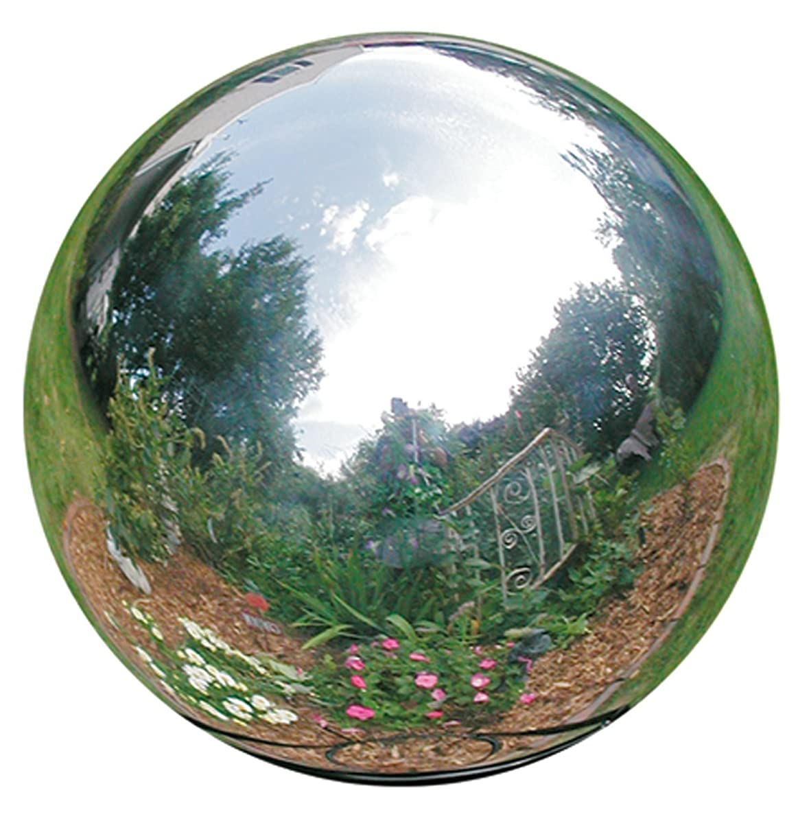 Rome 704-S Silver Stainless Steel Gazing Globe, Polished Stainless Steel, 4-Inch Diameter