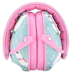 Snug Kids Earmuffs/Hearing Protectors - Adjustable Headband Ear Defenders For Children and Adults (Llamas) (Color: Llamas)