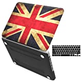 iBenzer Old Macbook Pro 13 Inch case A1278, Soft Touch Hard Case Shell Cover with Keyboard Cover for Apple MacBook Pro 13 with CD-ROM, UK FLAG MMP13UKFL+1 (Color: Z-UK Flag, Tamaño: Previous Generation MacBook Pro 13'' A1278)